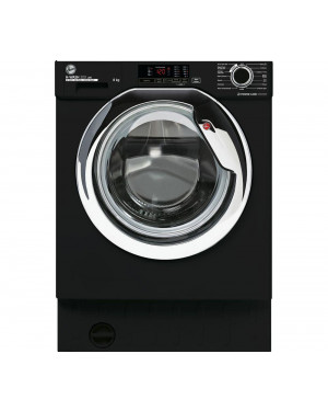 Hoover H-Wash 300 HBWS48D1ACBE Integrated 8 kg 1400 Spin Washing Machine, Black