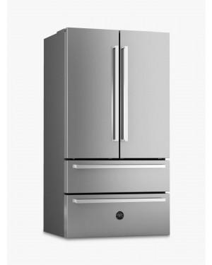 Bertazzoni Master Series REF90X Freestanding 80/20 French Fridge Freezer, Stainless Steel