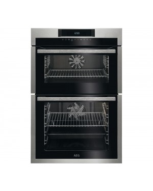 AEG SurroundCook DCE731110M Electric Double Oven, Stainless Steel & Black