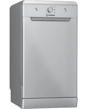 Indesit DSFE1B10SUKN 10 Place Slimline Freestanding Dishwasher, Silver