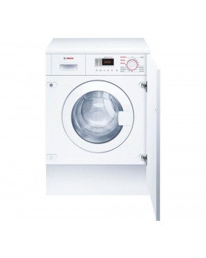 Bosch WKD28351GB Integrated Washer Dryer, 7kg Wash/4kg Dry Load, B Energy Rating, 1400rpm Spin, White