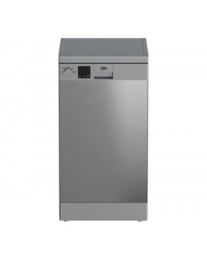 Beko DVS04X20X Slimline Dishwasher, Stainless Steel