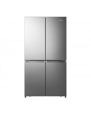 Hisense PureFlat RQ758N4SAI1 Fridge Freezer, Stainless Steel