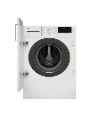Beko WTIK84121 Integrated 8 kg 1400 Spin Washing Machine, White
