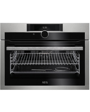 AEG KPE842220M Compact Pyrolytic Oven, Stainless Steel