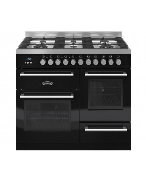Britannia Dual Fuel Range Cooker RC-10XGG-QL-K Q Line XG 100cm , Gloss Black