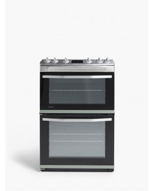 John Lewis & Partners JLFSMC621 Double Dual Fuel Cooker, A Rating, Silver