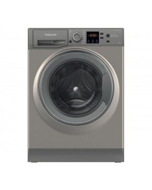 Hotpoint Core NSWR 843C GK UK 8 kg 1400 Spin Washing Machine, Graphite