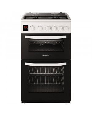 Hotpoint HD5G00CCW/UK 50 cm Gas Cooker, White