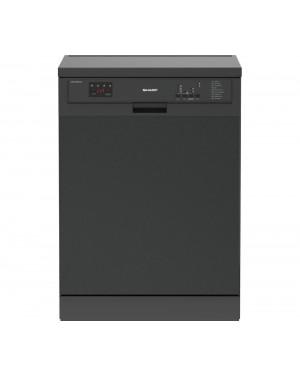 Sharp QW-DXA26F41A Full-size Dishwasher, Dark Stainless Steel
