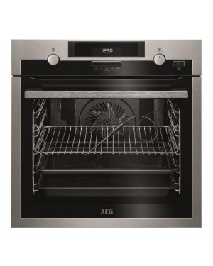 AEG SteamBake BPS552020M Electric Oven, Stainless Steel