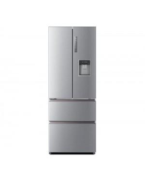 Haier Cube Series HB16WMAA 70/30 Fridge Freezer, Stainless Steel