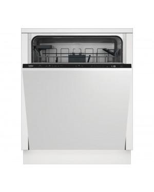 Beko DIN46X30 Full-size Fully Integrated Dishwasher, Black