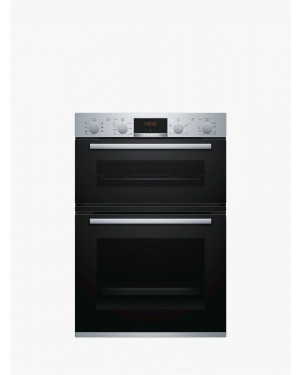 Bosch Serie 4 MBS533BS0B Electric Double Oven, Stainless Steel