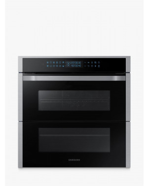 Samsung NV75R7676RS Dual Cook Flex Pyrolytic Built-in Single Oven, Stainless Steel