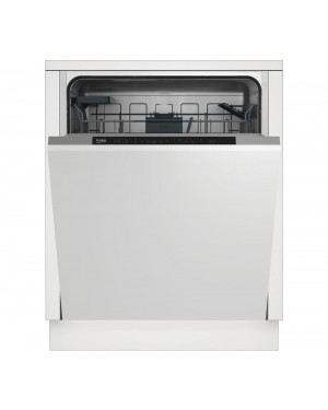 Beko DIN16X20 Full-size Fully Integrated Dishwasher, Silver