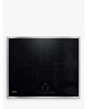 Miele KM7262FR Framed Induction Hob, Black & Steel