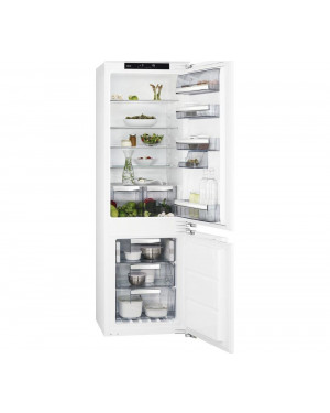 AEG SCE8182XNC Integrated 70/30 Fridge Freezer, White