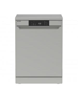 Sharp QW-NA1CF47ES-EN Full-size Dishwasher, Silver