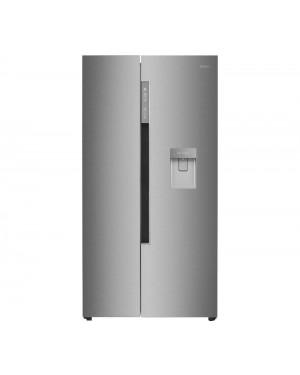 Haier HRF-522IG6 American-Style Fridge Freezer, Silver