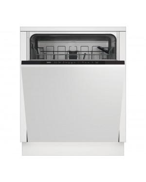 Beko DIN15X20 Full-size Fully Integrated Dishwasher, Black Panel