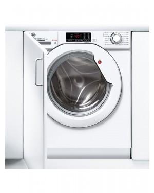 Hoover HBD 485D1E Integrated Washer Dryer, 8kg/5kg Load, 1400rpm Spin, White