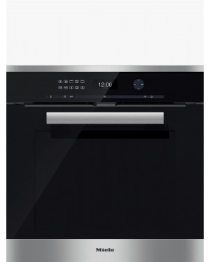 Miele H6461BP PureLine Single Electric Oven, Clean Steel