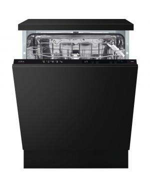 Cda CDI6121 Integrated Dishwasher, Black Panel