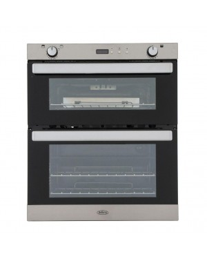 Belling BI702G Double Built Under Gas Oven, Stainless Steel