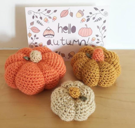 Orange Crochet Pumpkins