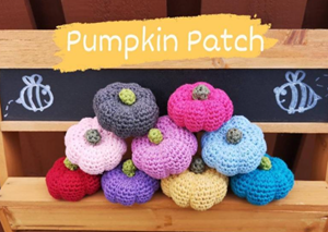 Rainbow and Bright Crochet Pumpkins