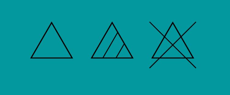 Clothes Bleach symbols