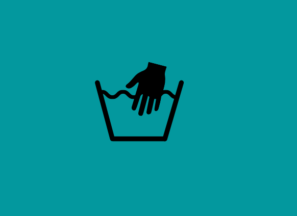 Hand wash only clothes symbol