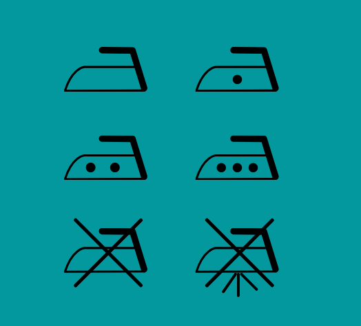 Ironing symbols from clothes